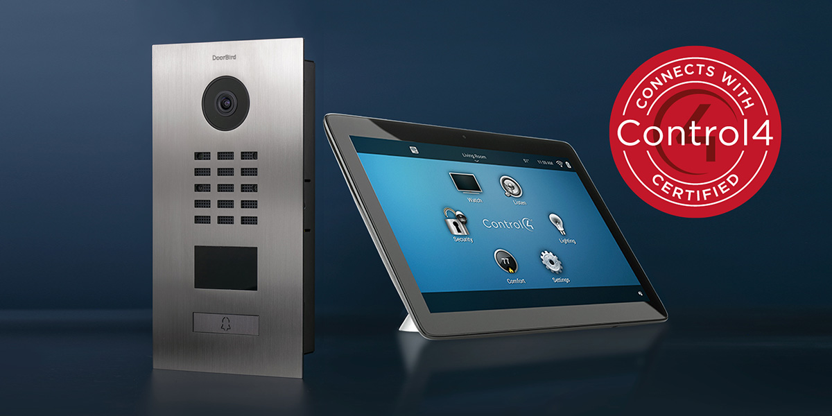 Les interphones vidéo IP DoorBird sont intégrés à Control4, qui certifie le driver DoorBird.